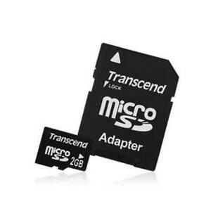 2 GB Transcend Micro SD Card with Adapter Camera Phone GoPro Radio Tablets PCs