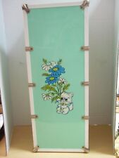 "Vintage 1970's Metal Mint Green Wardrobe Steamer Trunk Carrying Case 22"" Tall"
