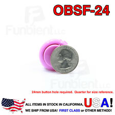 Sanwa OBSF-24 - PURPLE Momentary  Push Button JAMMA guitar killswitch 24mm MAME