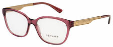 Versace Eyeglasses VE 3240 5209 54 Transparent Pink Frame [54-16-140]