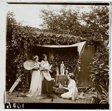 VUE STÉRÉO PHOTO POSITIVE NUE PLAQUE DE VERRE 44mmX106 mm EROTIQUE VERS 1900, 11
