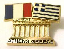 Pin Spilla Olimpiadi Athens 2004 Greece/France Flags