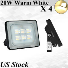 4X 20W Viugreum Led Flood Light Warm White Outdoor Garden Lanscape Yard Fixtures