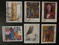 Lot timbres France format Tableau oblitérés