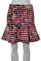 Banana Republic Womens Skirt Size 2 Petite Pink Black A Line Casual Above Knee