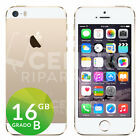 APPLE IPHONE 5S 16GB BIANCO ORO ORIGINALE GOLD GRADO B CON ACCESSORI E GARANZIA