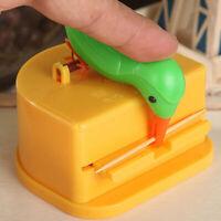 JW_ Cartoon Bird Automatic Toothpicks Holder Container Home Toothpick Dispense