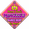 NEW ~ SWIRLY JEWEL MUM & DAD'S PRINCESSES ~ Personalised Baby on Board Car Sign