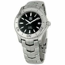 Tag Heuer Link Men's 39mm Stainless Steel Black Dial Watch WJ1110.BA0570
