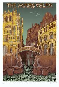 MINT & SIGNED Mars Volta 2008 EMEK Gorge Sasquatch HYDRO VARIANT Poster 17/20