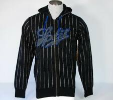 Split Black & White Hooded Sweat Jacket Hoodie Mens Large L NWT