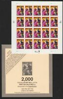 1999 Cinco de Mayo 33¢ Sheet of 20 Sc 3309 MNH and End Card