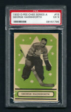 "PSA 5 GEORGE HAINSWORTH 1933 OPC ""A"" Hockey Card #15"