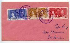 TRISTAN DA CUNHA 1937 KGVI Coronation set Captain Smye Dominica