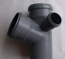 HT - Rohr Doppel-Eck-Abzweig DN 100 / 100 / 50  67°