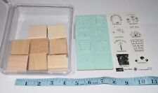 Stampin Up! FUN FILLED Rubber Stamp 8 UNMOUNTED Flower Pot Purse Birthday Cake