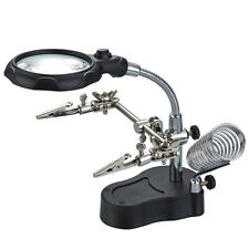 Helping Hand Magnifier LED Soldering Iron Station 3.5X 12X Jewelry Repair Third