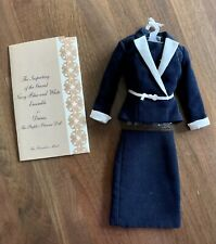 Franklin Mint Diana The People's Princess Navy White Inspecting Guard Suit