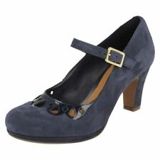 Clarks Suede Mary Jane Casual Heels for Women