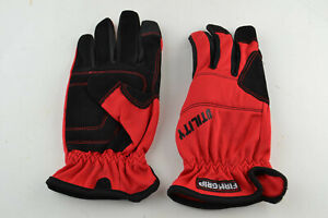 Firm Grip Utility Gloves RED with Elastic Band Closure Work Size L LG LARGE