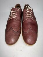 JOHN FLUEVOG Women's CASUAL WING TIP  SZ 11M Color Lilac Very Soft  LEATHER