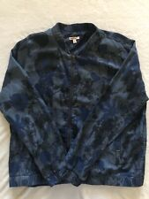 JUICY COUTURE Blue Floral Camo Long Sleeve Bomber Jacket Coat Womens XL
