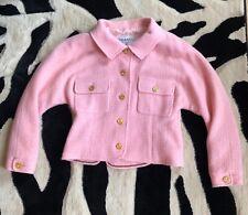 Authentic Chanel Pink Wool Blazer Jacket Size 36