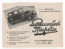 Pubblicità epoca 1934 MICHELIN BALILLA GOMME AUTO advertising werbung reklame