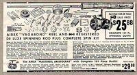 1954 Print Ad Airex Vagabond & Aristocrat Fishing Reels H-I Rods