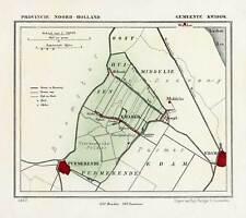 Antique Map-NETHERLANDS-TOWN PLAN-KWADIJK-NOORD HOLLAND-Kuyper-Kuijper-1865