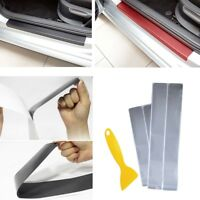 Silver 4x Plate Door Sill Scuff Plate Cars Sticker Anti-kick Scratch Car-styling
