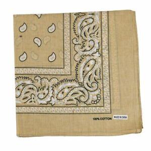 3-12 pcs Bandanas Scarves Paisley Print Head Face Mask Wrap Scarf / 100% Cotton
