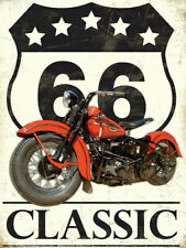 Route 66 USA Motorcycle Motorbike Classic Cruiser Fridge Magnet