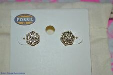 Fossil Brand Semi Precious Goldtone Crystal Stud Earrings  JOA00142710 GIFT IDEA