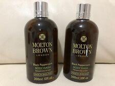 Molton Brown 2 x 300ml Black Peppercorn Body Wash BRAND NEW