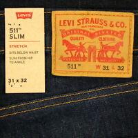 Levis 511 Slim Fit Jeans Size 31 x 32 DARK BLUE STRETCH DENIM Low Rise Levi's
