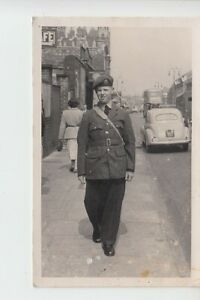 Postcard size photo of RAF recruit age 18 in 1952. Unknown location