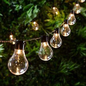 10/20 LED Extérieur Solaire Cristal Chaîne Guirlande Lumineuse Noël Jardin Décor