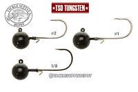TSD Tungsten Jig Head Micro Finesse Ball Out Black 3/8oz 2pk - Pick
