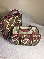 DEBBIE MUMM Joann Fabric Exclusive 2 pc. Set Quilt Case Caddy Tote Basket Craft