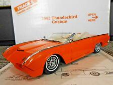 "Danbury Mint 1:24 1962 Ford Thunderbird Custom Convertible ""Sunset Orange Pearl"""