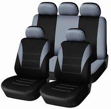 Sitzbezüge Schonbezüge Schonbezug Auto PKW Set Grau Polyester Hochwertig für