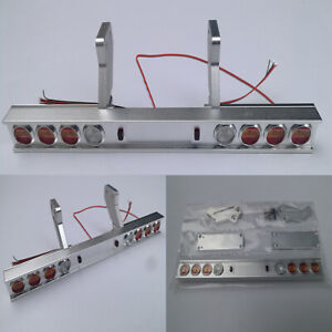 Metal Taillight 8 LED Light Bar for 1/14 Tamiya Tractor 56319 56330 RC Truck Car