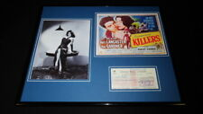 Ava Gardner Signed Framed 16x20 Check & The Killers Photo Poster Set JSA