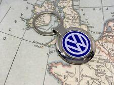 VW Volkswagen Bedruckt Logo Schlüsselanhänger Chrom Golf Gti Polo Touareg