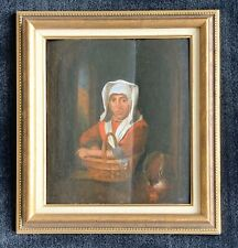 17th / 18th Century Painting of a Charwoman
