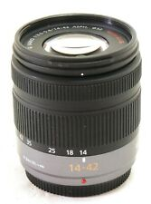 Panasonic Lumix G Vario 14-42mm ASPH f/3.5-5.6 zoom lens, black MINT