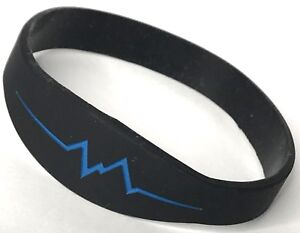 Bionic Silicone Sine Wave Blue Band True Frequency Pain Relief Bracelet (L)