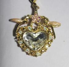 Kirks Folly large Crystal Heart Pendant Add-A-Charm