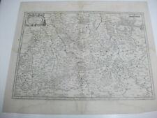 Mercator. Saxoniae superioris Lusatiae Misniaeque. Kupferstichkarte von 1636.
